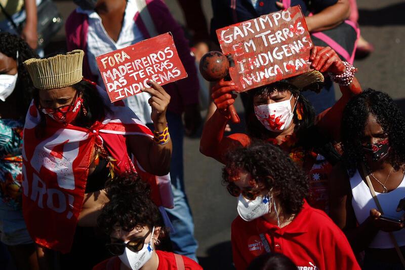 Indigenous People Manifest in Brasília, Brazil in June