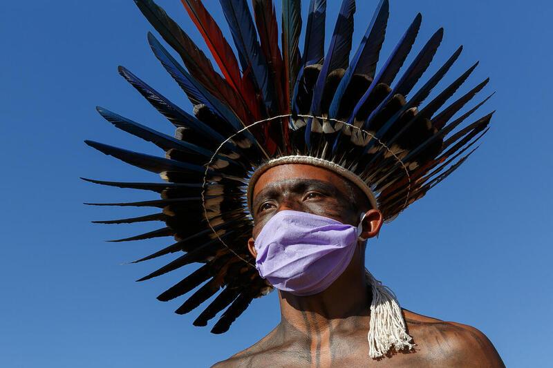 Indigenous Struggle for Life Camp 2021 in Brasília, Brazil