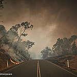 Bushfire in Snowy Mountains, Australia