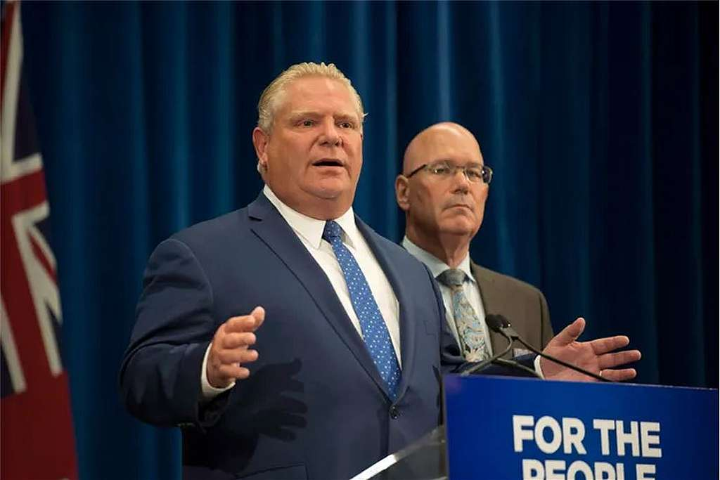 Premier Doug Ford and Minister of Municipal Affairs and Housing Steve Clark