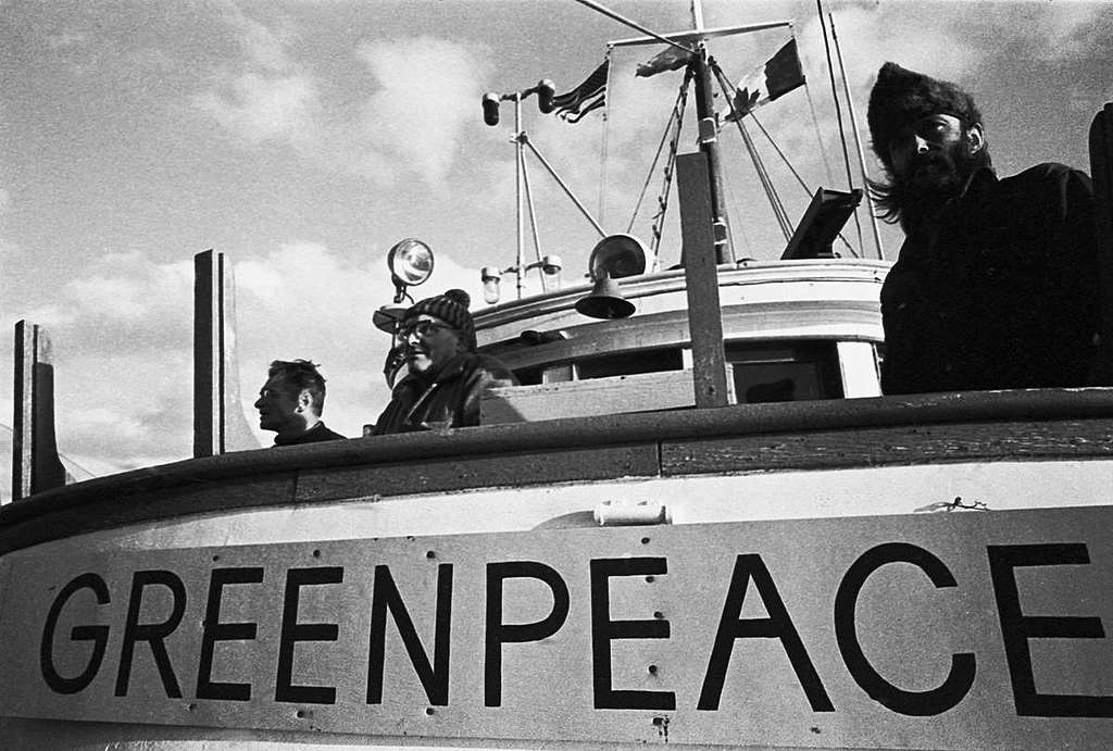 Greenpeace Voyage from Vancouver to Amchitka. © Greenpeace / Robert Keziere