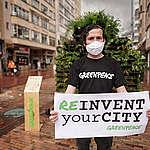 Greenpeace se manifestó por espacios más verdes en Bogotá
