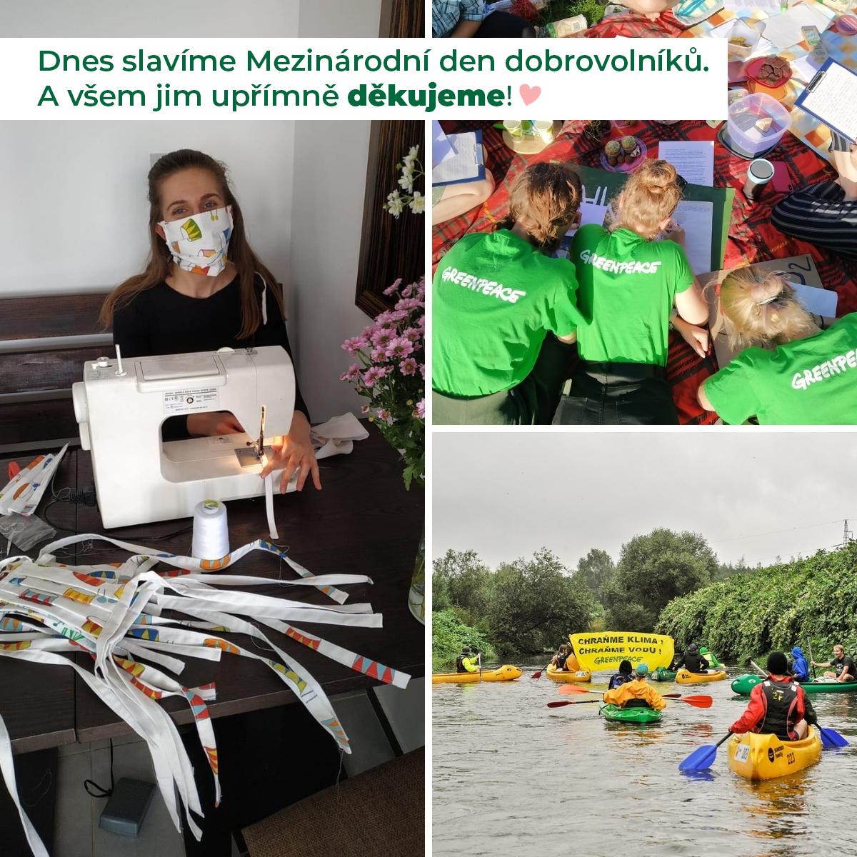 Den dobrovolníků je i svátkem Greenpeace