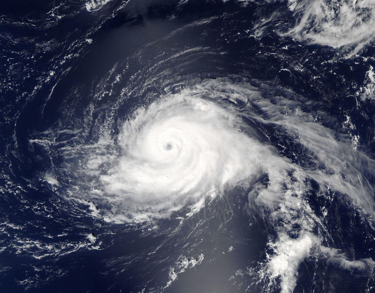 Hurricane Gaston. © NASA