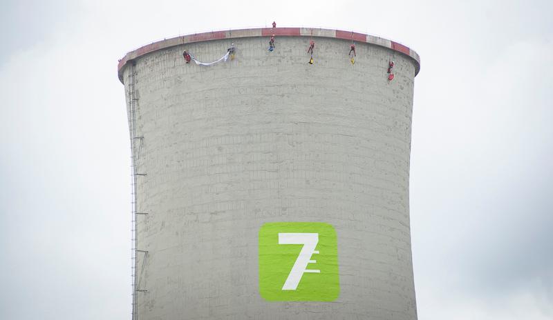 Chvaletice Power Plant Occupation in Czech Republic. © Petr Zewlakk Vrabec / Greenpeace
