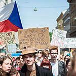 Fridays for Future Student Demonstration in Prague. © Petr Zewlakk Vrabec / Greenpeace