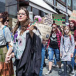 Fridays for Future Students Demonstration in Brno. © Majda Slámová / Greenpeace