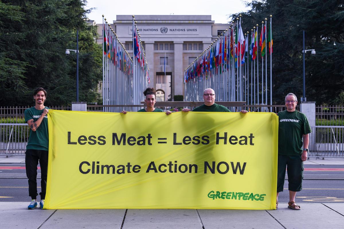 Action at IPCC Meeting in Geneva. © Demir Sönmez / Greenpeace