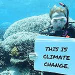 Great Barrier Reef Mass Coral Bleaching Event. © Dean Miller / Greenpeace
