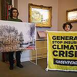 Climate Activists at Exhibition by Generali in Italy. © Greenpeace / Lorenzo Moscia