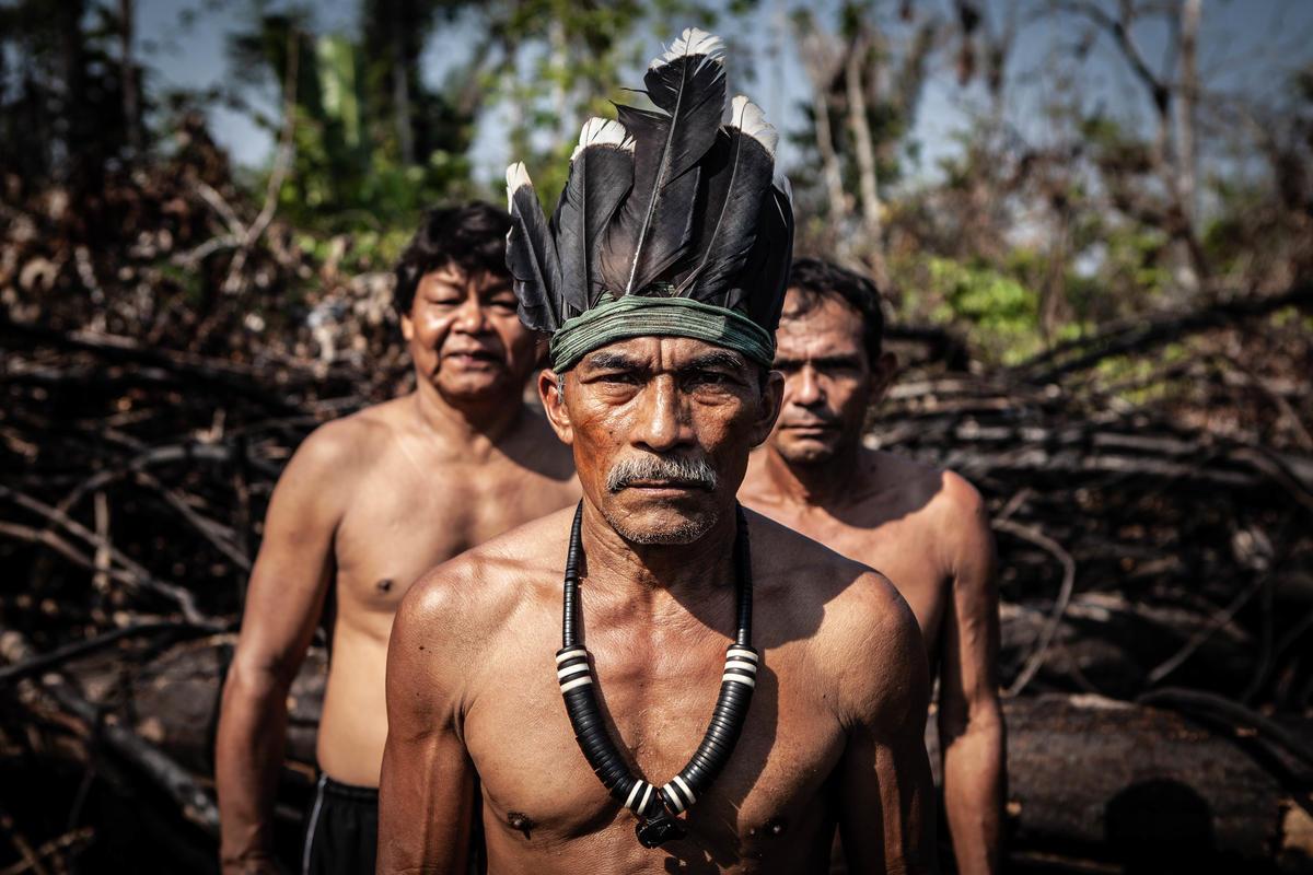 Members of the Apurina Tribe in Brazil. © Denisa Šterbová / Greenpeace