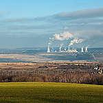 Turów, velký celek, důl, elektrárna