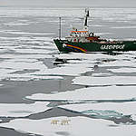 MY Arctic Sunrise in the Arctic. © Daniel Beltrá / Greenpeace