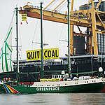 Climate Action at Coal Terminal in Denmark. © Christian Åslund