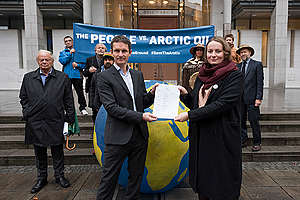 The People vs Arctic Oil: Historic Lawsuit against Arctic Oil in Oslo. © Christian Åslund