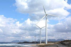 11 Windmills along Shimane Coastline in Japan. © Masaki Takahashi