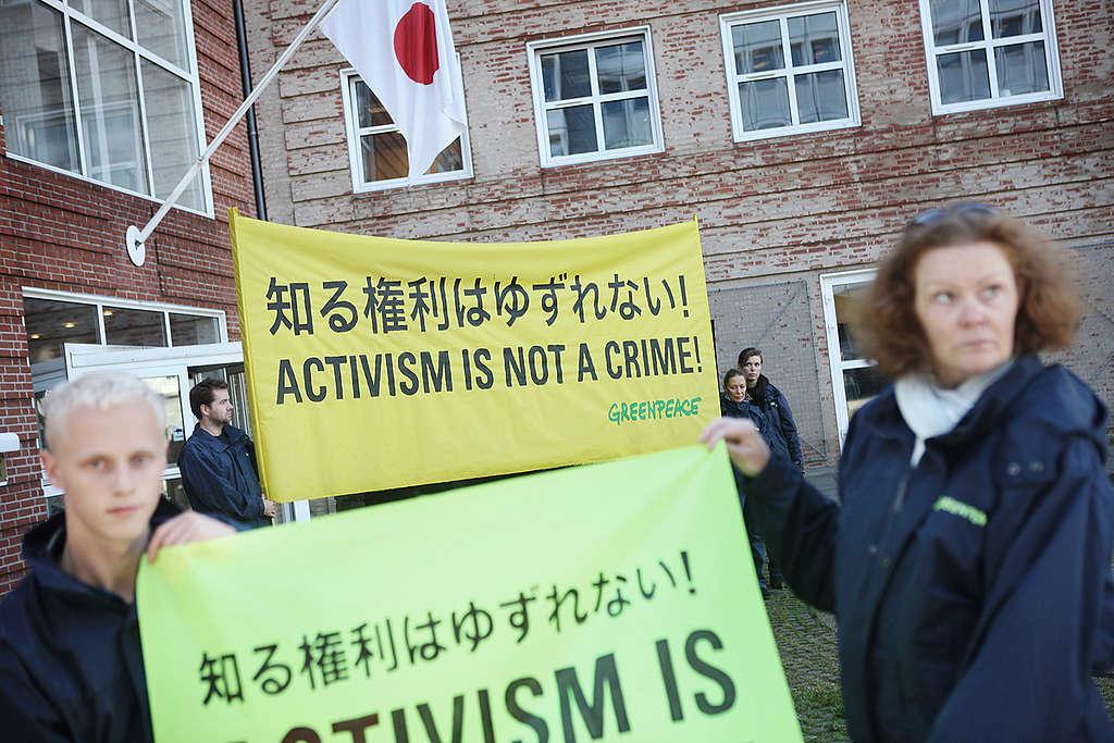 Danish Activists Protest T2 Verdict. © Caspar Balslev