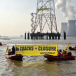 Action against Doel Nuclear Plant in Belgium. © Nick Hannes