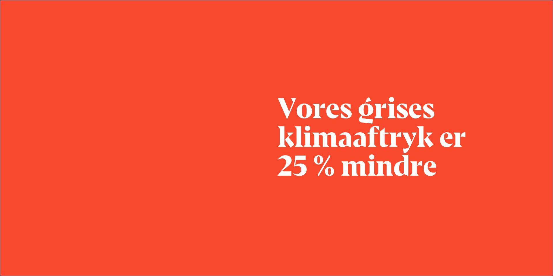 Danish Crown påstår, at deres grises klimaaftryk er 25 procent mindre.