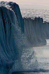 Meltwater Waterfalls at Humboldt Glacier. © Nick Cobbing / Greenpeace