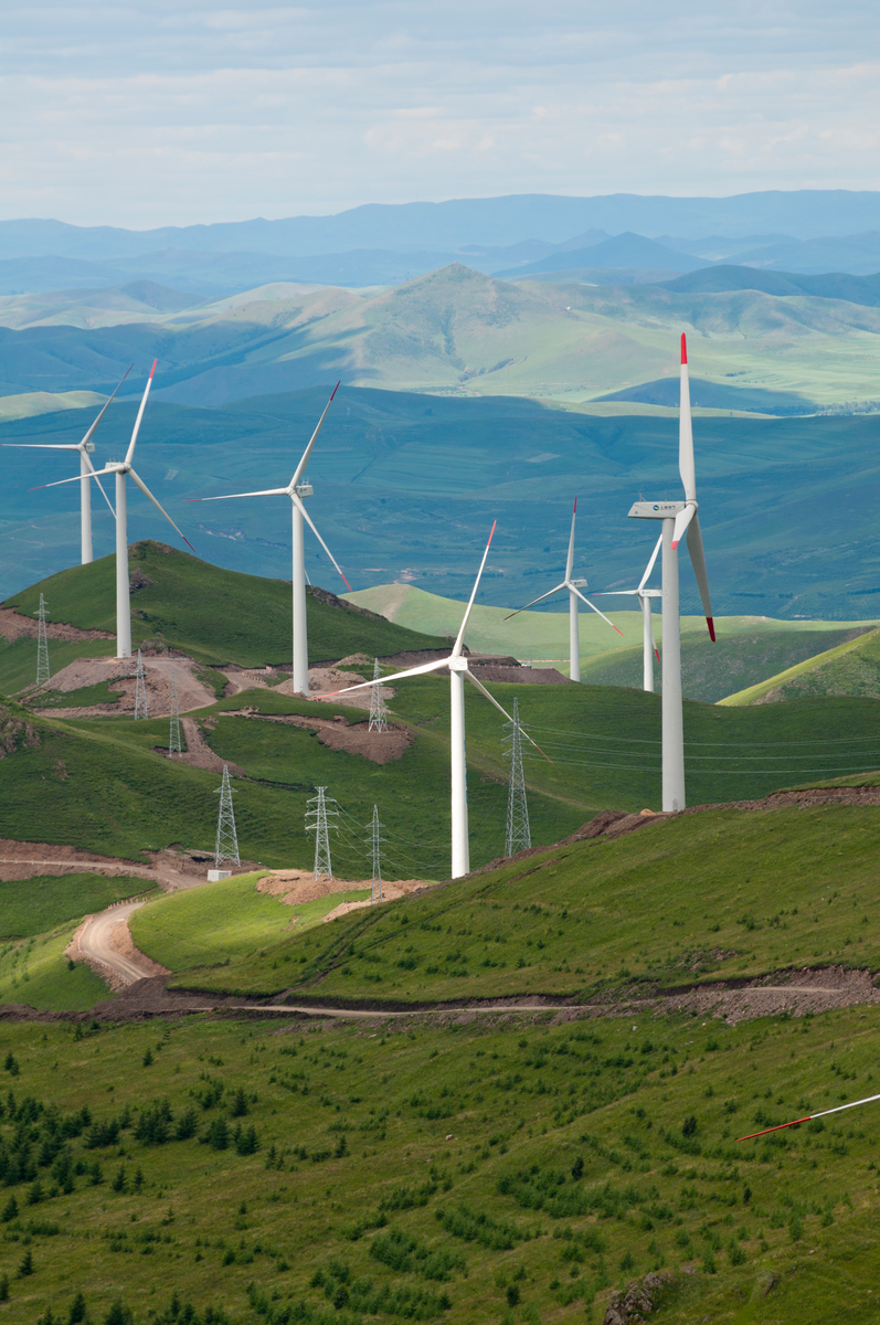 Chicheng Wind Farm in Hebei Province. © Simon Lim / Greenpeace