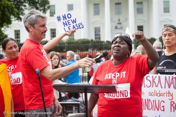 Keep it the Ground Rally at White House in Washington D.C., 2016.