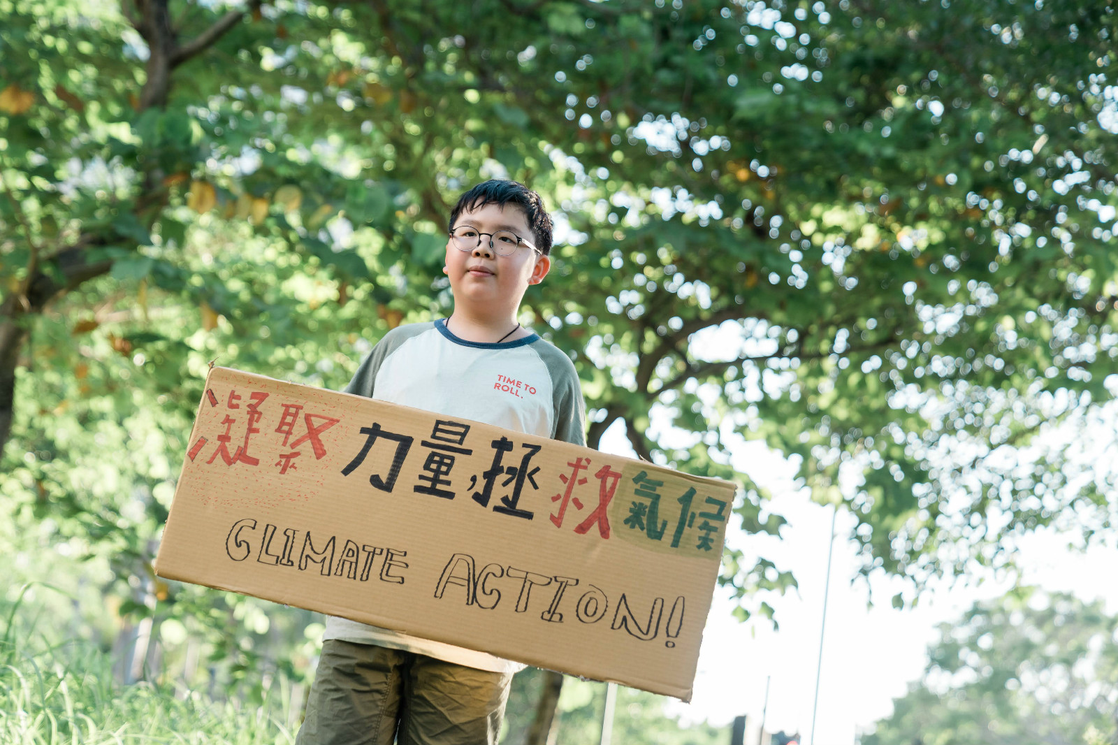 Let's talk about climate change: 11-year-old Lance Lau commits to Climate Action!
