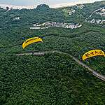 "Behind the scene: Paragliding action to ""Save Our Lantau"""