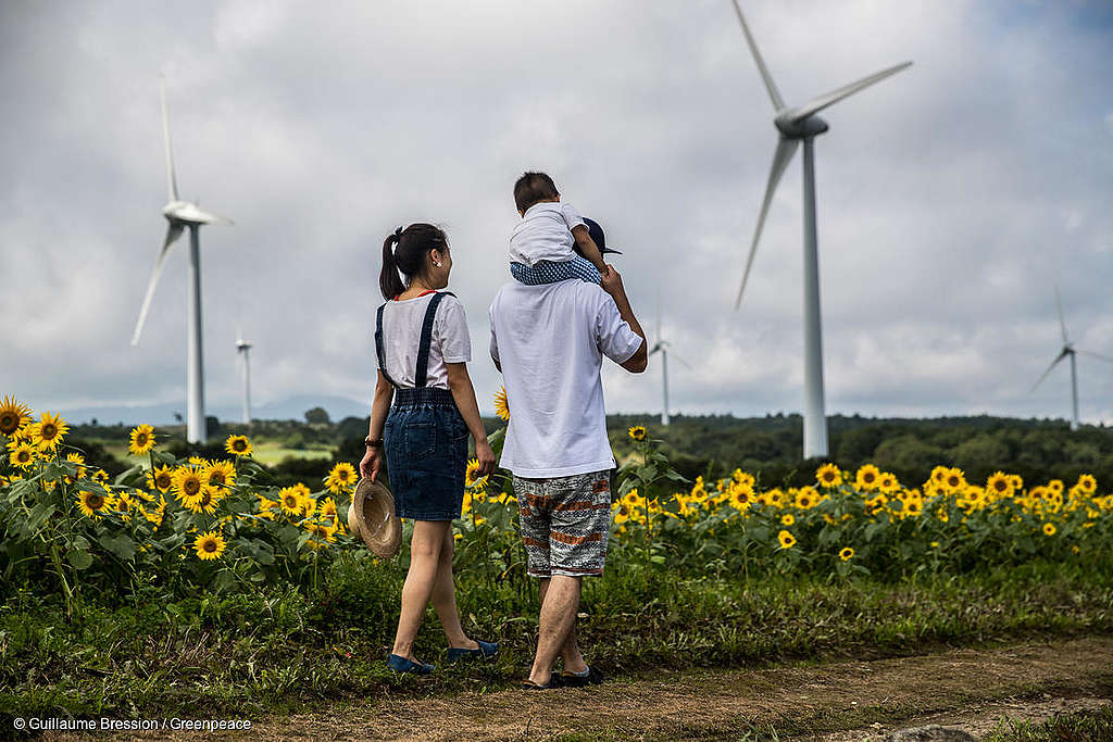 Fukushima prefecture, Japan // 33 wind turbines are producing electricity equivalent to power demands of 35, 000 household's demands per year.