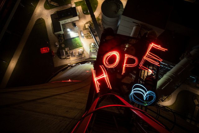 Greenpeace activists at Europe's largest coal plant. Night.