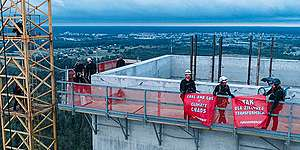 Climbing Action against Expansion of a Gas Power Plant in Ostrołęka in Poland