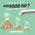 Majority of European crops feeding animals and cars, not people