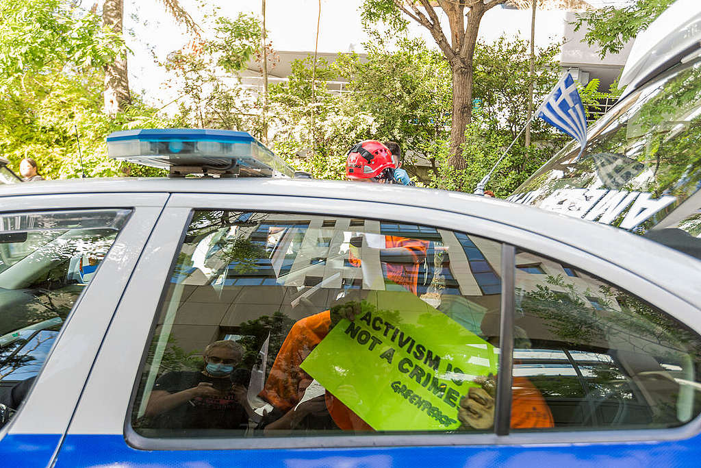 Action against Hydrocarbons Drilling in Greece. © Constantinos Stathias / Greenpeace