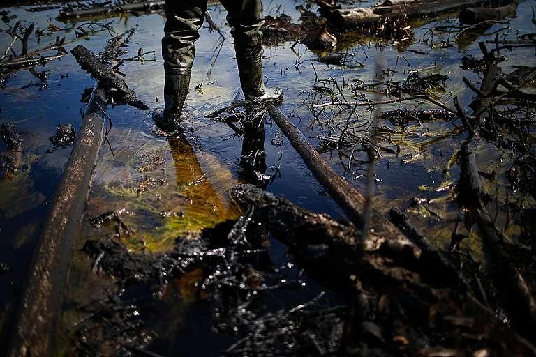 Rosneft Oil Spill in Russia © Denis Sinyakov / Greenpeace