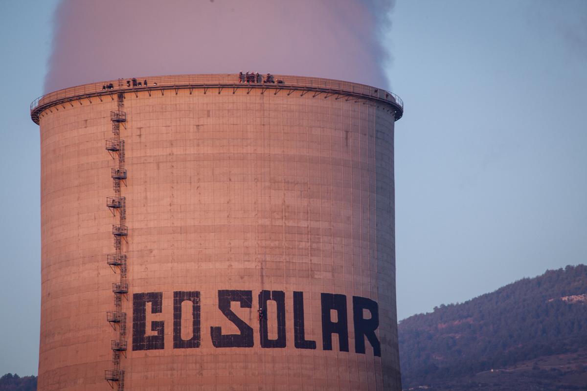 Δράση της Greenpeace στον ΑΗΣ Αγίου Δημητρίου στην Κοζάνη