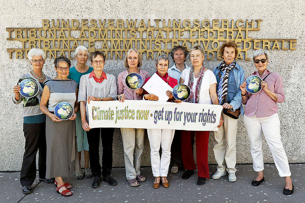 Senior Women for Climate Protection in St. Gallen. © André Albrecht