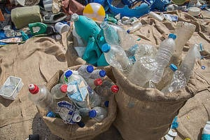 Plastic Pollution & Brand Audit Event in Greece. © Constantinos Stathias