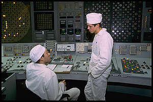 Control Room of Chernobyl Nuclear Plant. © Clive Shirley / Signum / Greenpeace