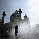 Climate Change Impact Austria - City heatwave. © Mitja  Kobal / Greenpeace