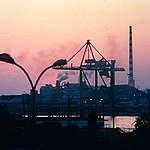 Sunset at Piraeus, near Athens. © Mike Midgley / Greenpeace