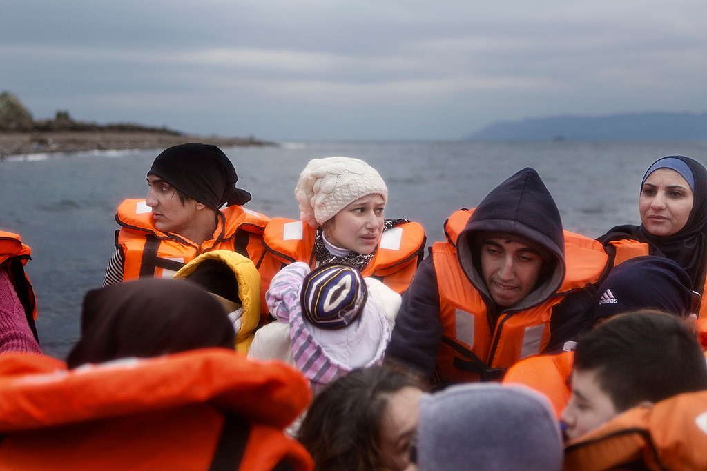 MSF and Greenpeace Rescue Refugees in Aegean Sea. © Alessandro Penso / MSF / Greenpeace