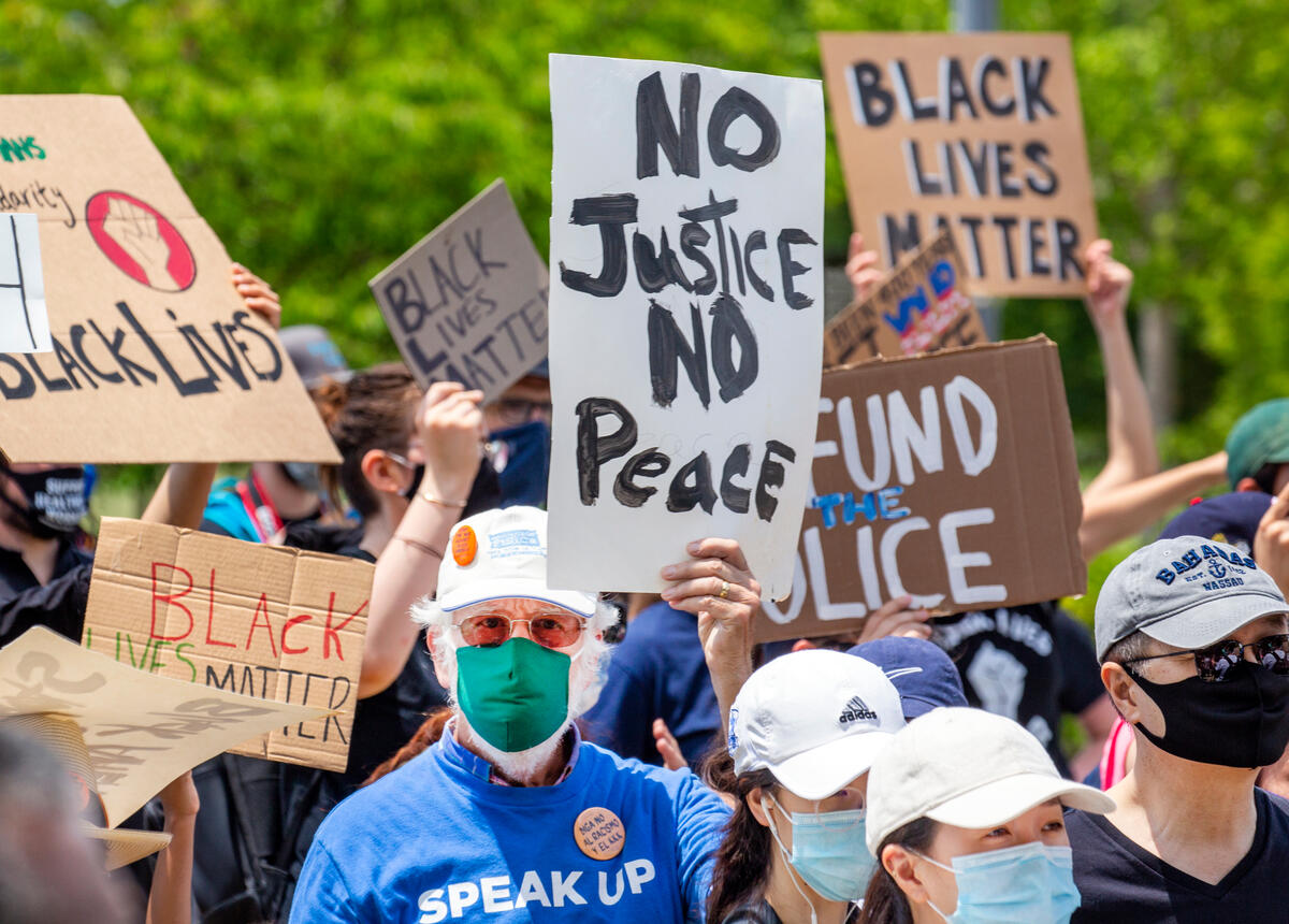 Juneteenth Protests in Washington DC. © Tim Aubry / Greenpeace