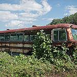 Abandoned Bus in Iitate. © Christian Åslund / Greenpeace