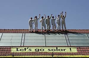 Solar Generation builds Solar Roof for Pestalozzi. © Greenpeace / Schar