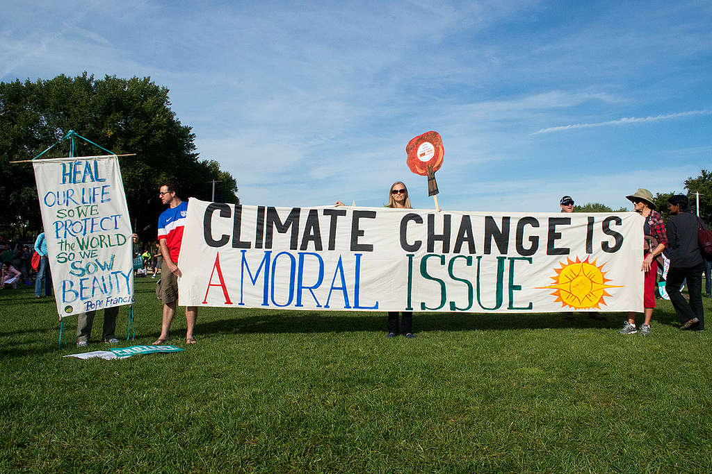 Climate Justice Rally, Washington, D.C. © Greenpeace / Colin Wheeler