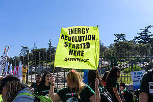 Break Free March in Athens. ©  Production House / Greenpeace