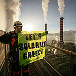 Action at Agios Dimitrios Power Station in Greece. © Will Rose / Greenpeace