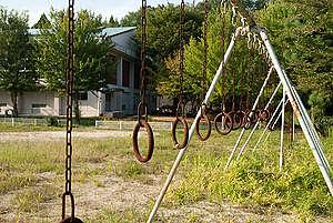 Playground of a School in Namie. © Shaun Burnie / Greenpeace