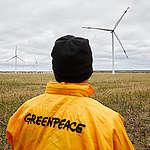 Wind Park in Ulyanovsk, Russia. © Greenpeace / Zamyslov Slava