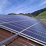 Solar Panel Installation in Switzerland. © Greenpeace / Philipp Rohner